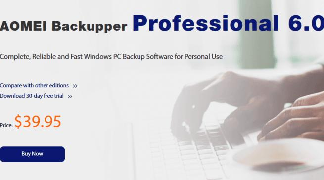 Aomei Backupper mirror backup software;