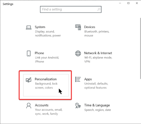 personalization-settings