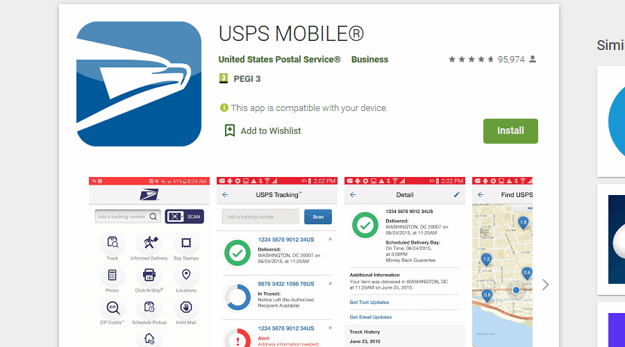USPS mobile app this service is temporarily unavailable-ak1213