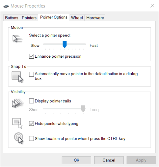 Pointer Options tab mouse lag black ops cold war