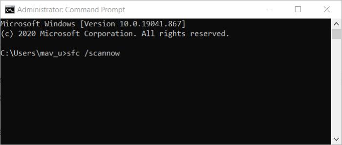The sfc command windows 10 print management missing