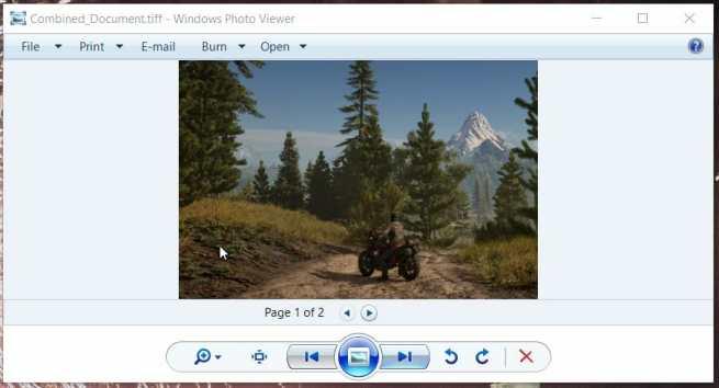 Windows Photo Viewer combine tiff files
