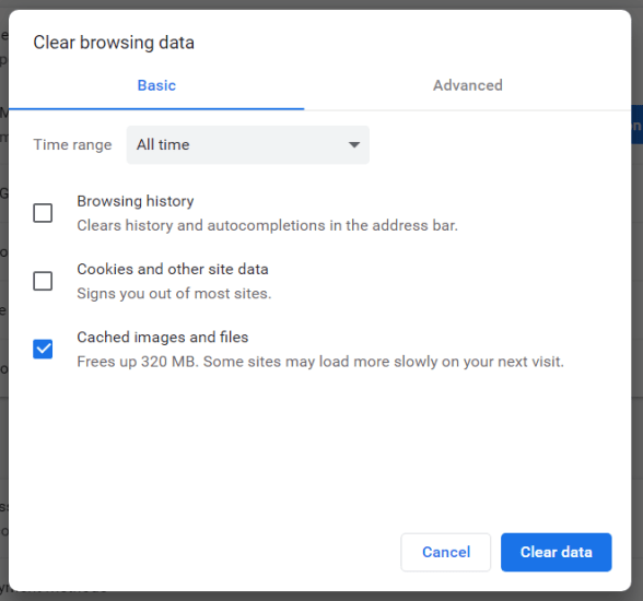 Chrome's Clear browsing data tool turbotax won't let me efile