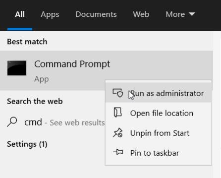 Run as administrator option windows error code 0xc004f025