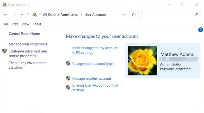 User Accounts window windows error code 0xc004f025