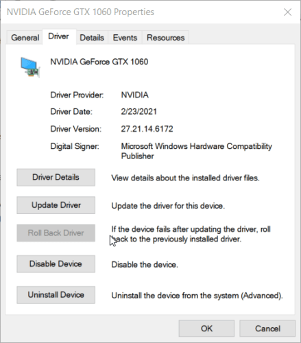 Driver tab computer screen goes black for a second then comes back
