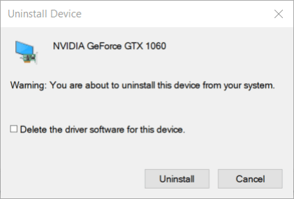 Uninstall Device window video driver crashed and was reset borderlands 3