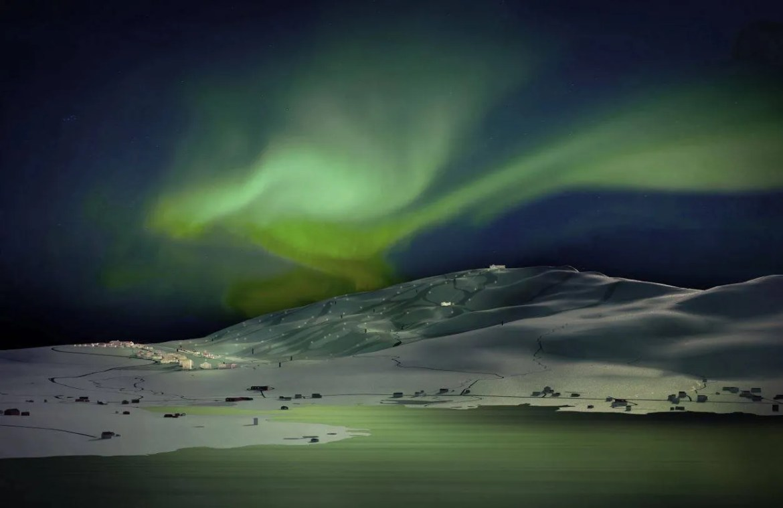 In december wordt het slechts een paar uur per dag licht en komt de zon niet boven de horizon (bron: FB Arctic Center)