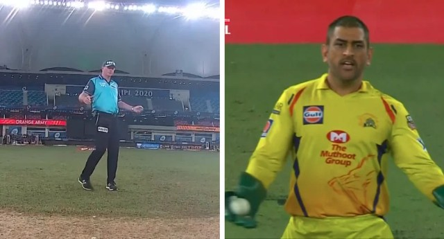 Dhoni Sparks Uproar After Appearing To Influence Umpiring Wide Call