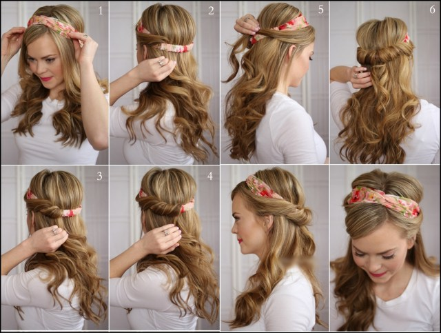 wonderful diy tuck and cover half hairstyle