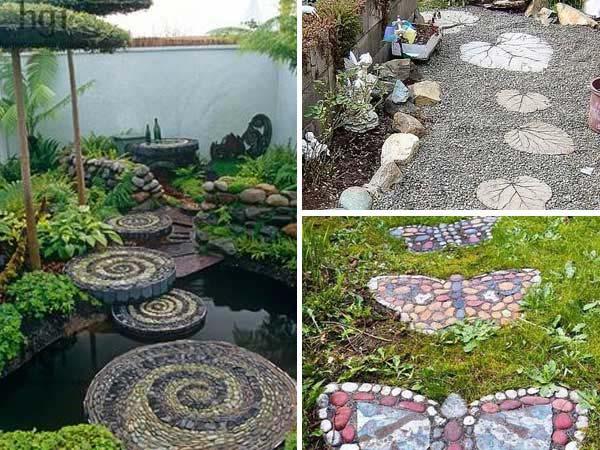 Wonderful DIY Leaf Shaped Stepping Stones