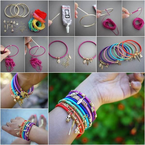 Wonderful DIY Summer Colorful Wrap Bangles