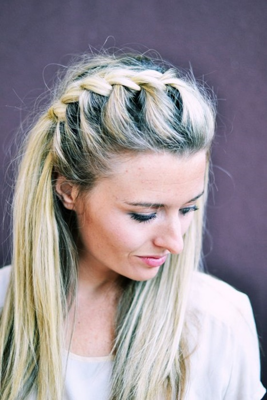 DIY Half Up Side French Braid Hairstyle Simple To Follow