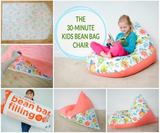 View In Gallery 30 Minute Kids Bean Bag Wonderfuldiy