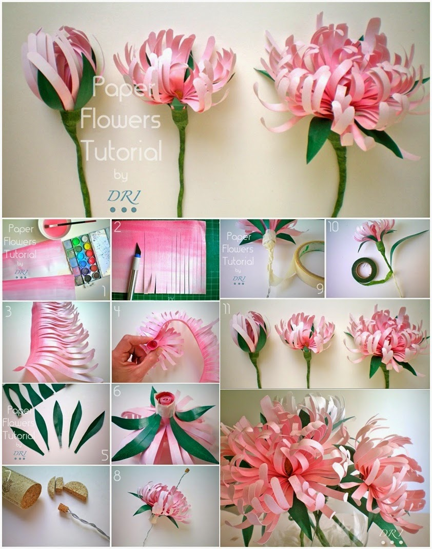 Idee Con Carta Crespa diy paper flowers craft. 10 paper flower diys crafthubs