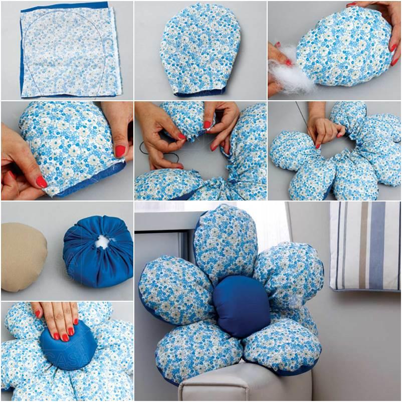 wonderful diy flower shaped cushion