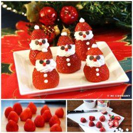 Wonderful DIY Cute Strawberry Santa Hat Brownie