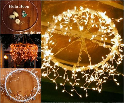 Wonderful DIY Hula Hoop Chandelier
