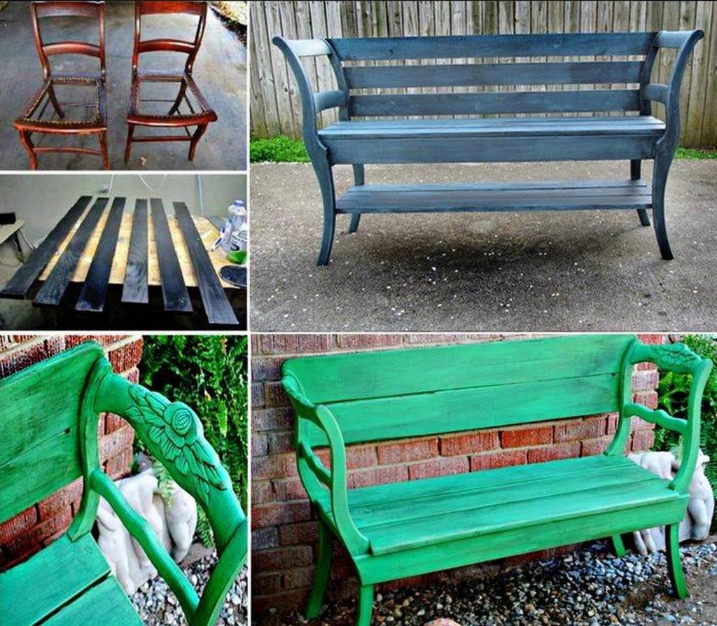 Wonderful DIY Upcycled Chair Bench