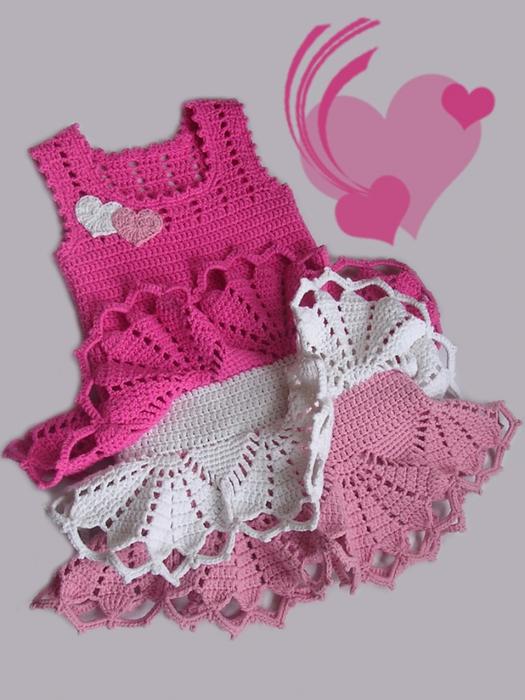 Simply Stunning Crochet Valentines Dress Free Pattern