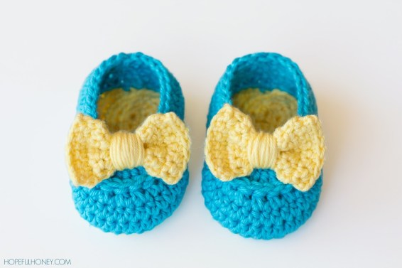 Lemon Drop Crochet Baby slippers