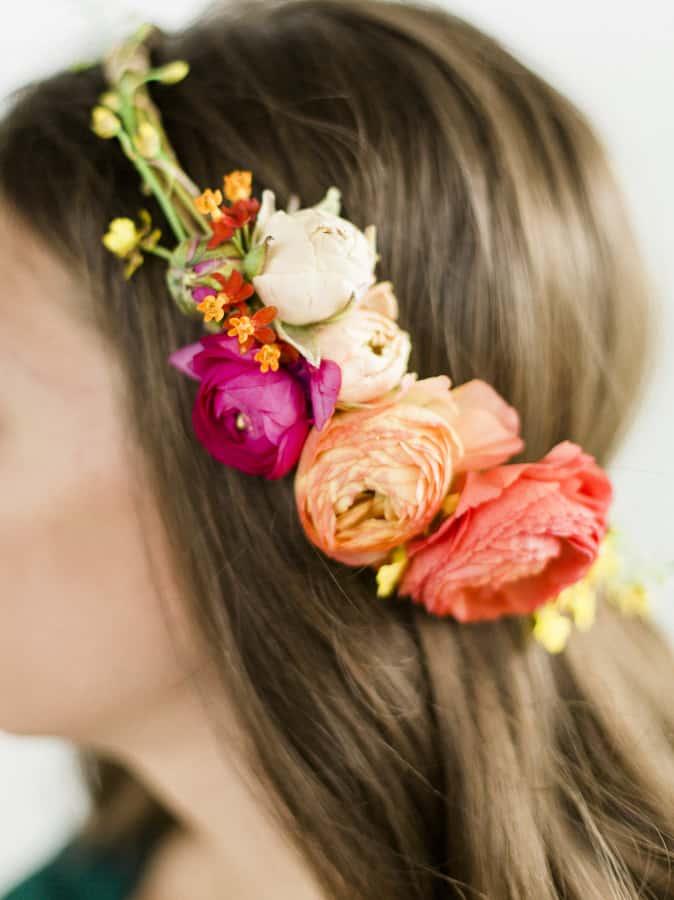 Coachella Inspired DIY Flower Crowns