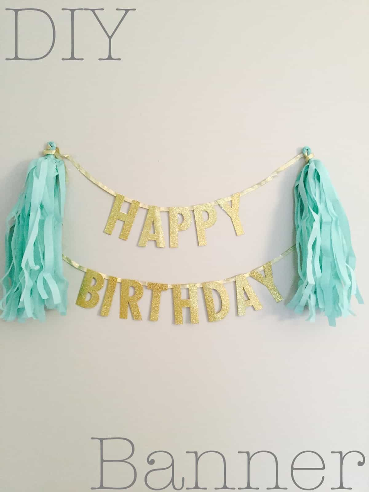 Say It Out Loud Adorable Homemade Birthday Banners