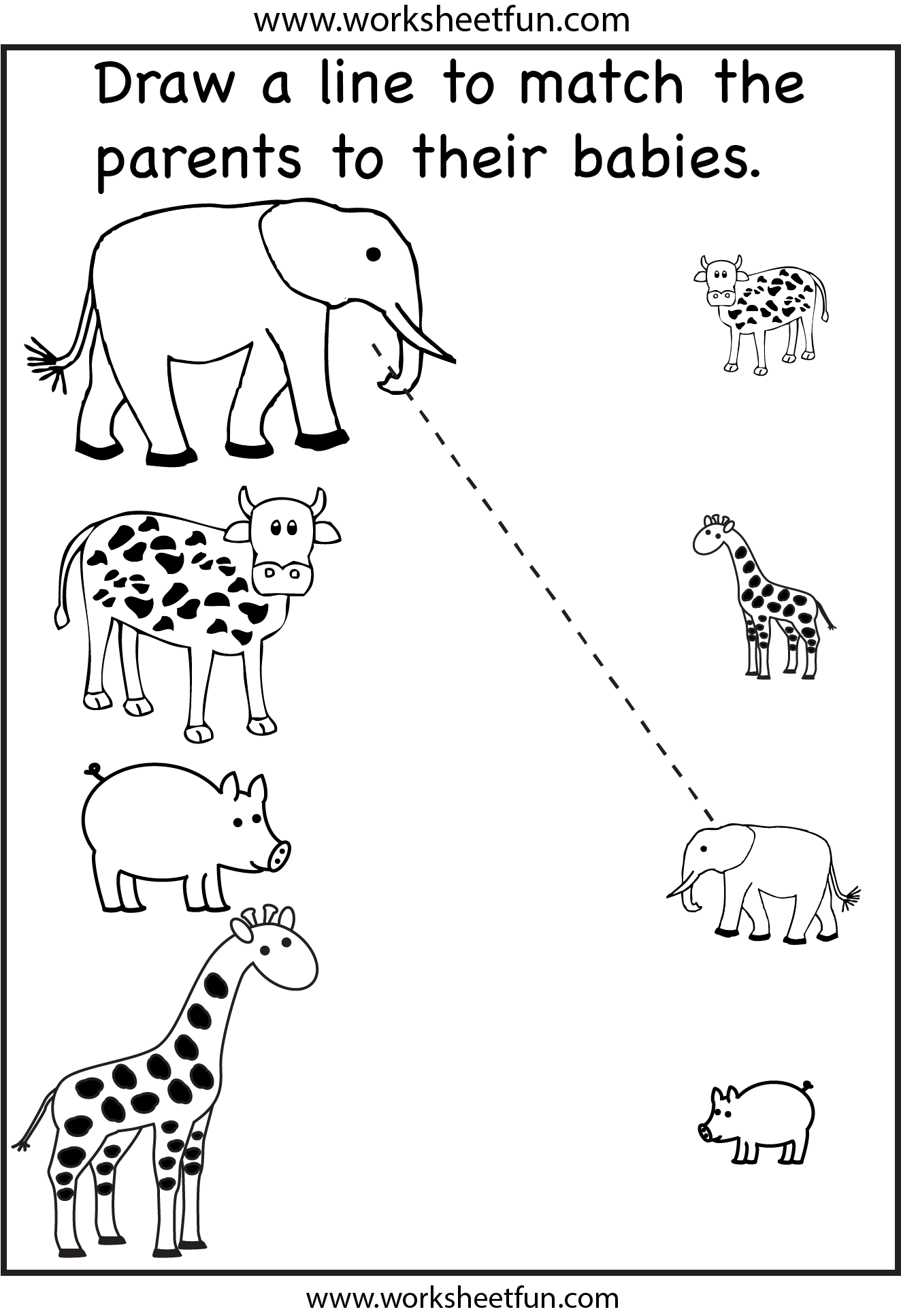 Matching Worksheet For Preschoolers