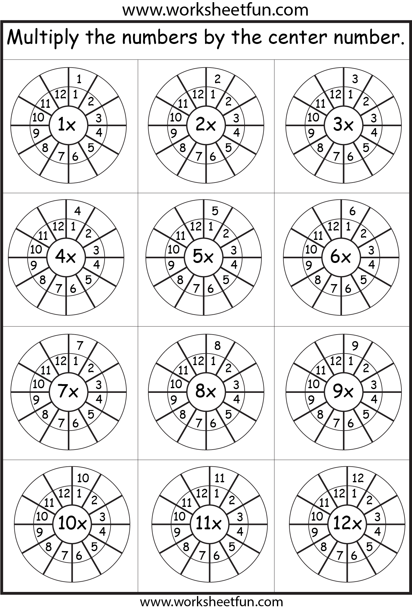 Times Table 2 12 Worksheets 1 2 3 4 5 6 7 8 9 10 11 12 13 14 15 16 17 18 19 And