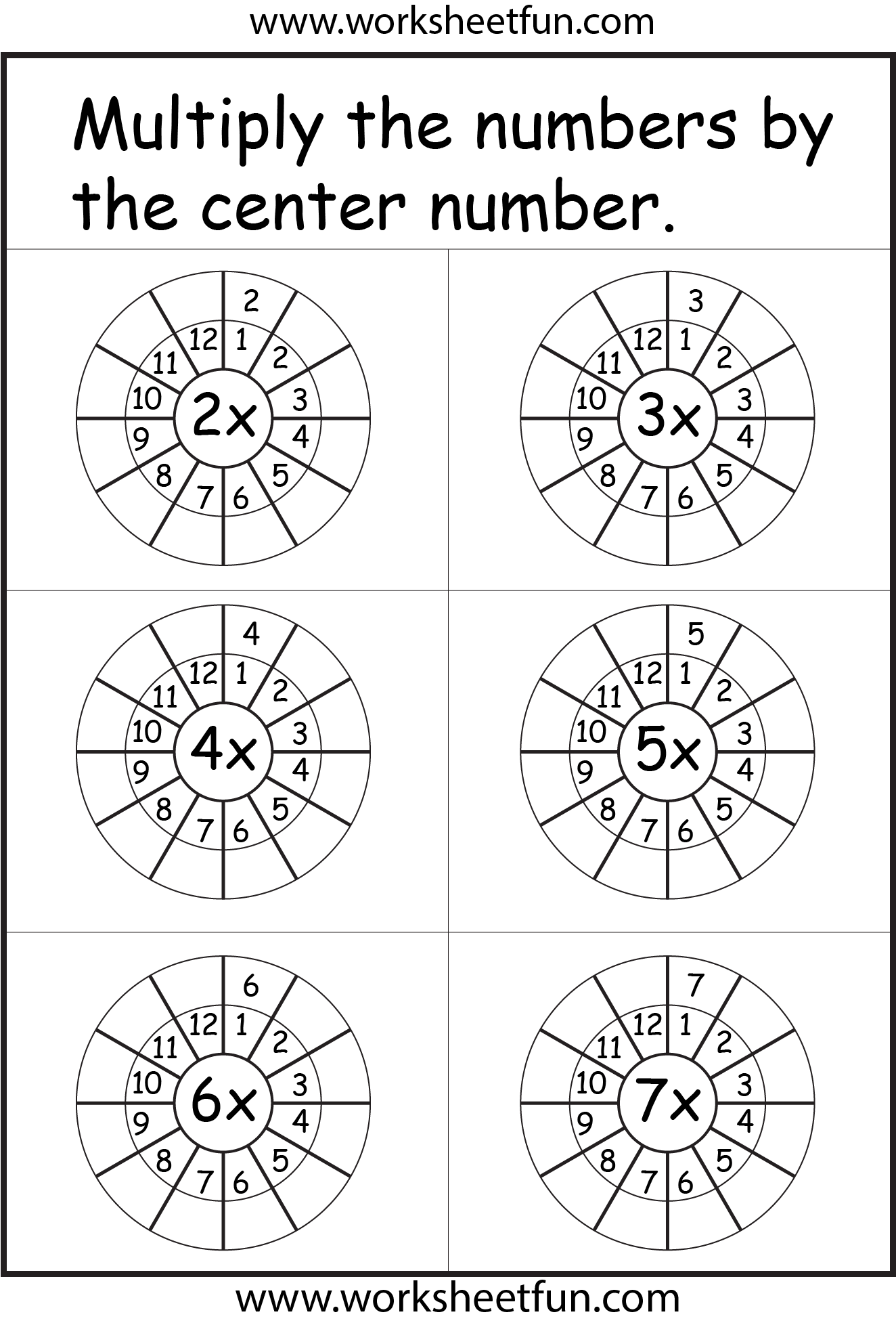 Times Table Worksheet 2 12 Times Tables Two Worksheets
