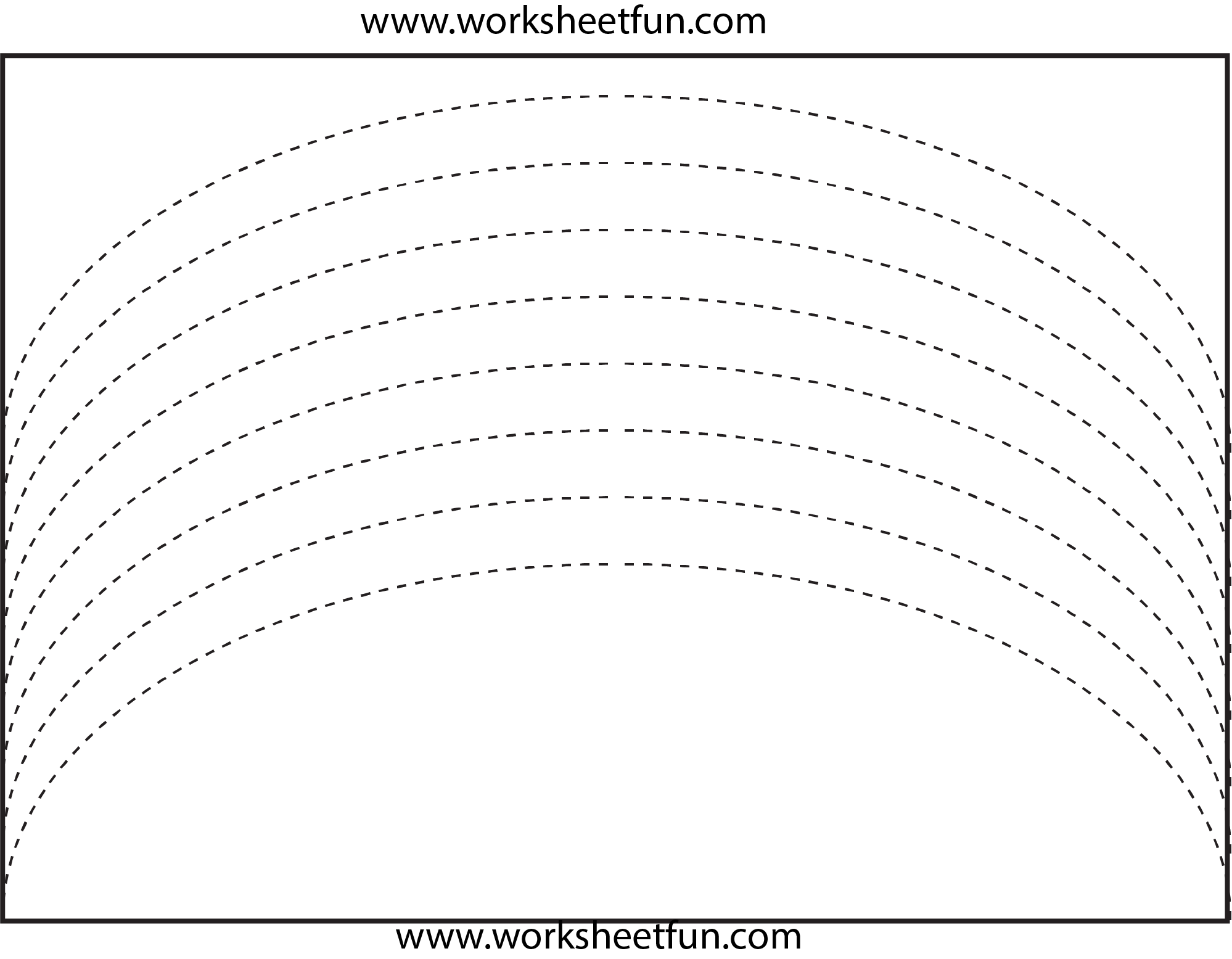 Curved Line Tracing 4 Worksheets Free Printable