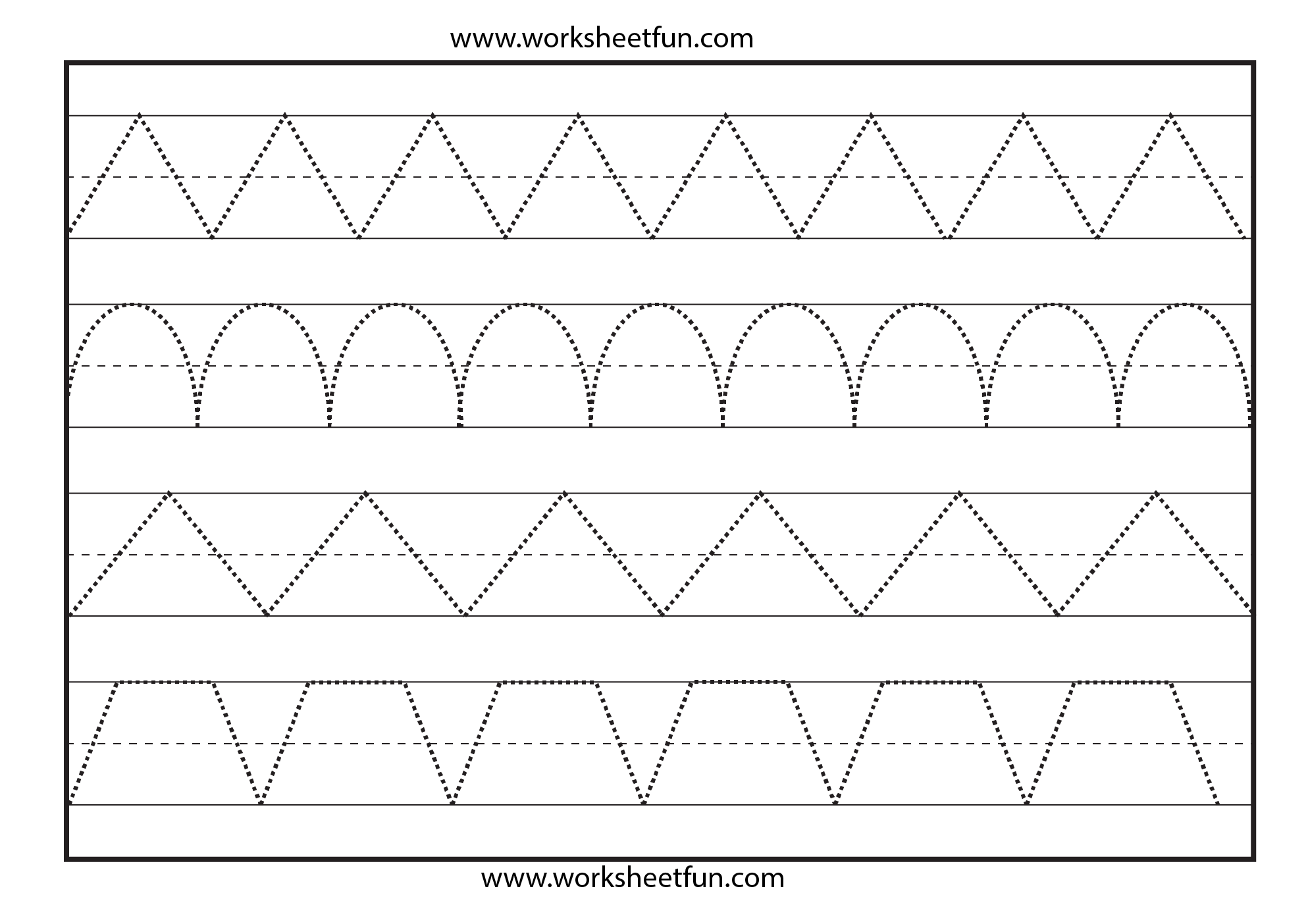 Line Tracing 1 Worksheet Free Printable Worksheets