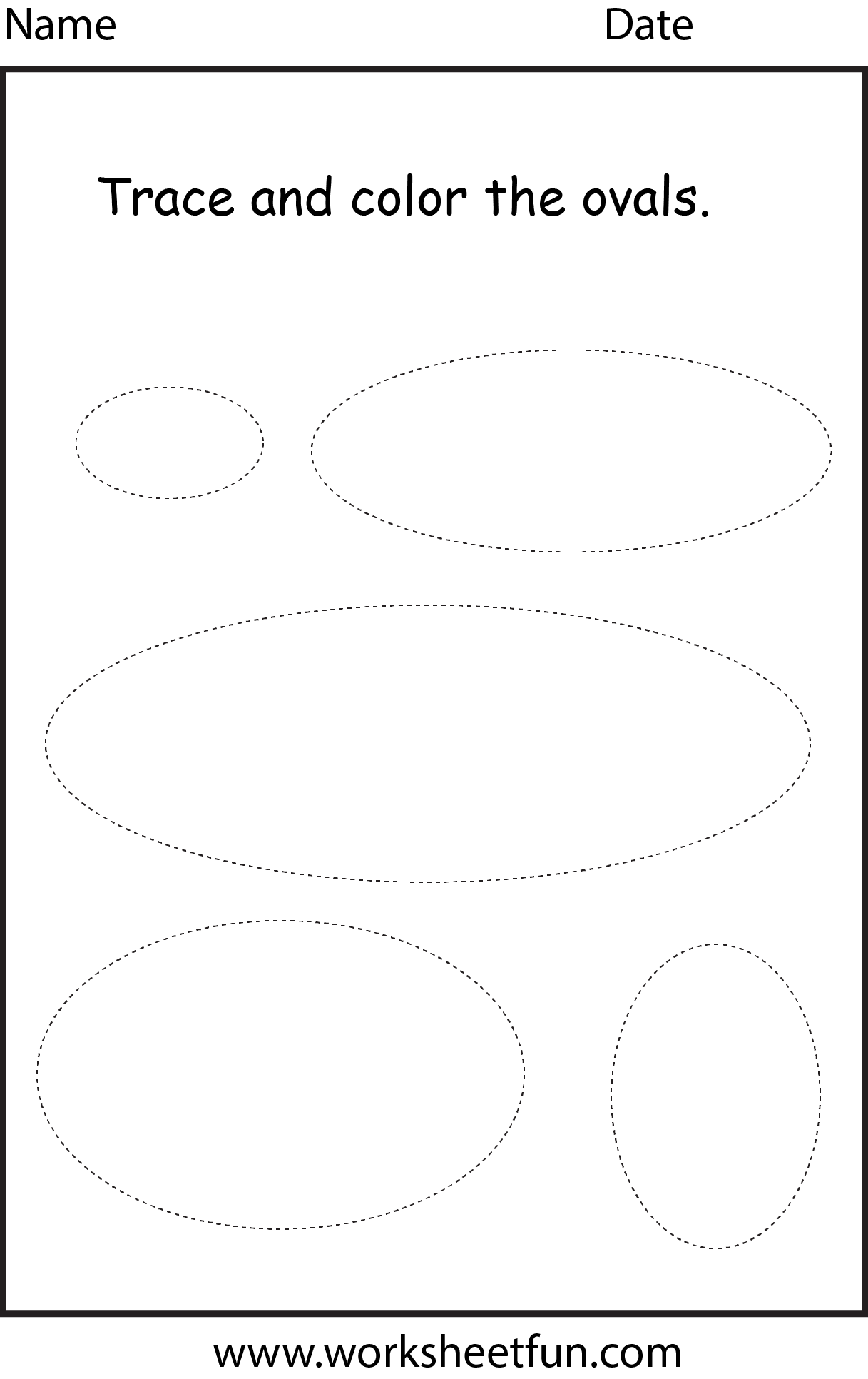 Shape Oval 1 Worksheet Free Printable Worksheets