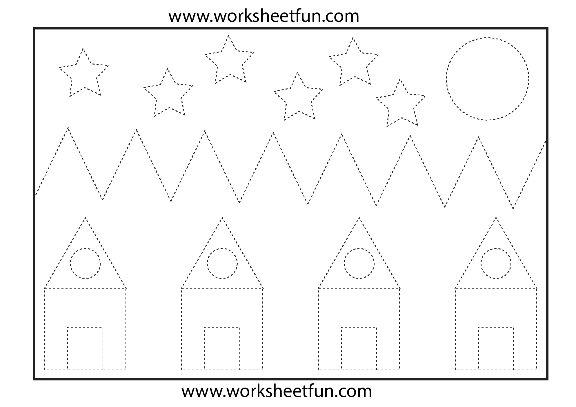 Picture Tracing 1 Worksheet Free Printable Worksheets