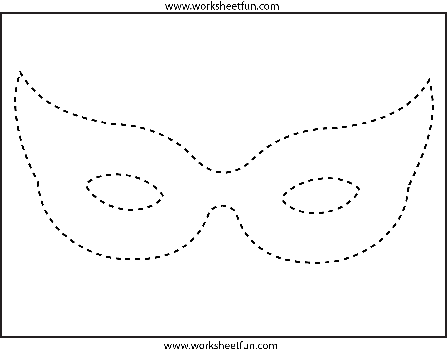 Mask Tracing 1 Worksheet Free Printable Worksheets Worksheetfun