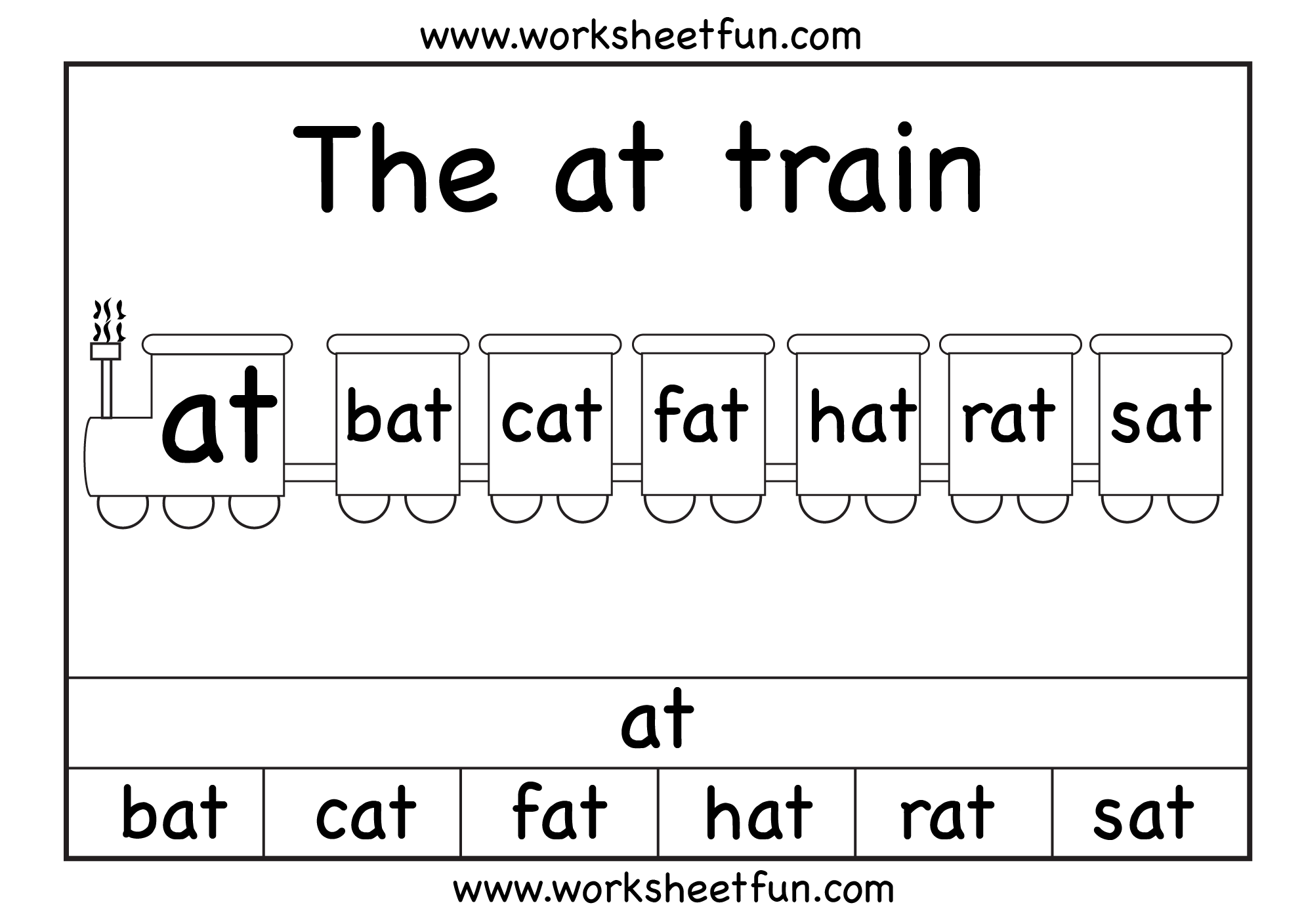 The At Train 1 Worksheet Free Printable Worksheets Worksheetfun