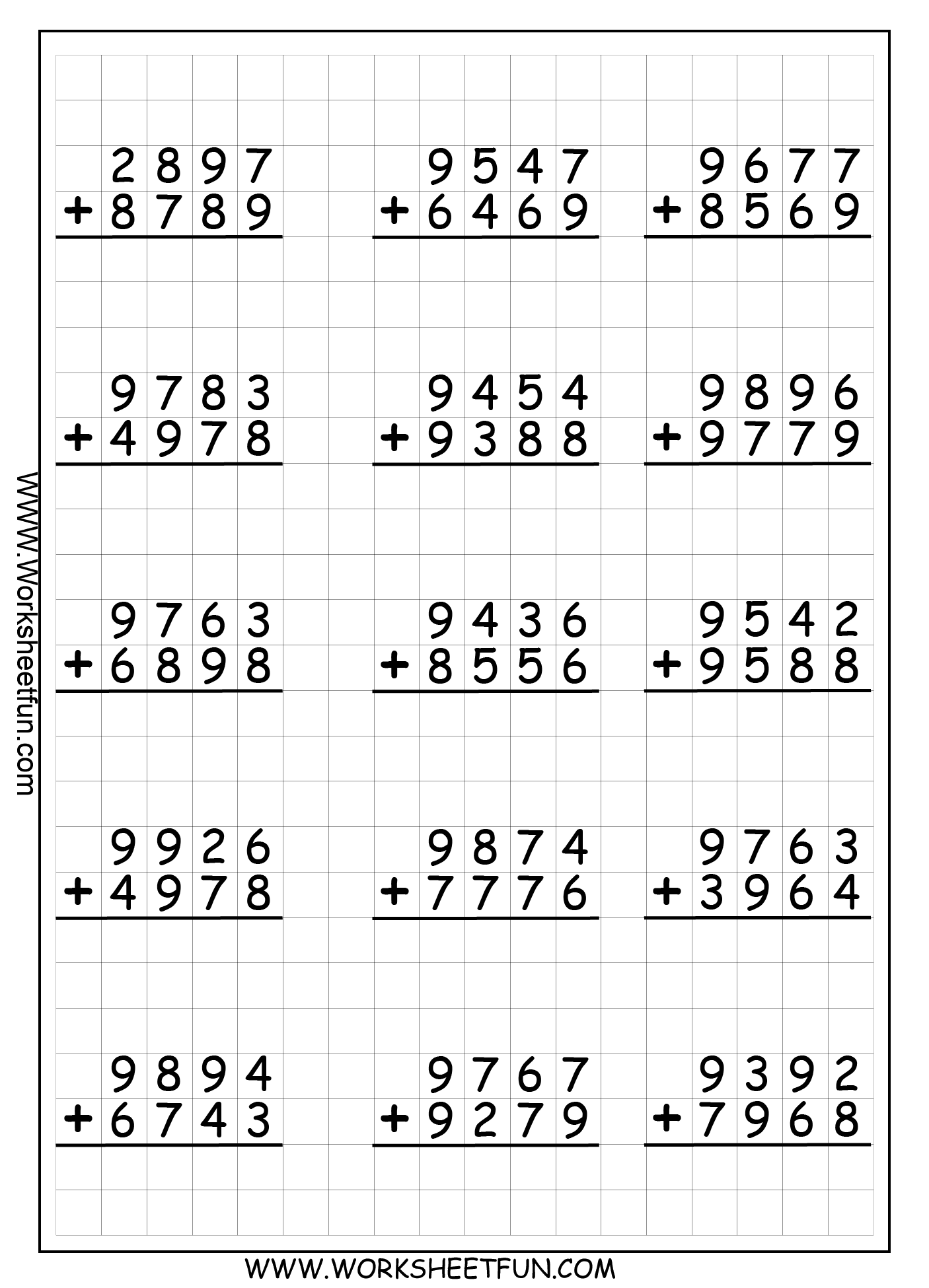 6 Column Worksheet