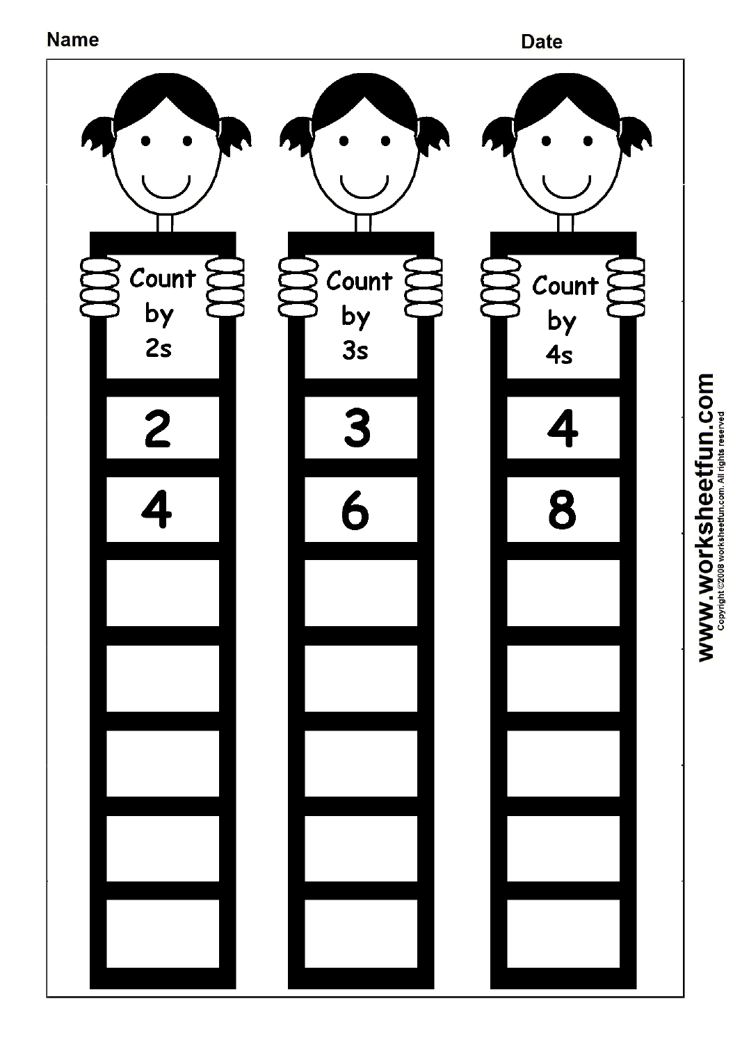 Skip Counting By 2 3 And 4 1 Worksheet Free Printable
