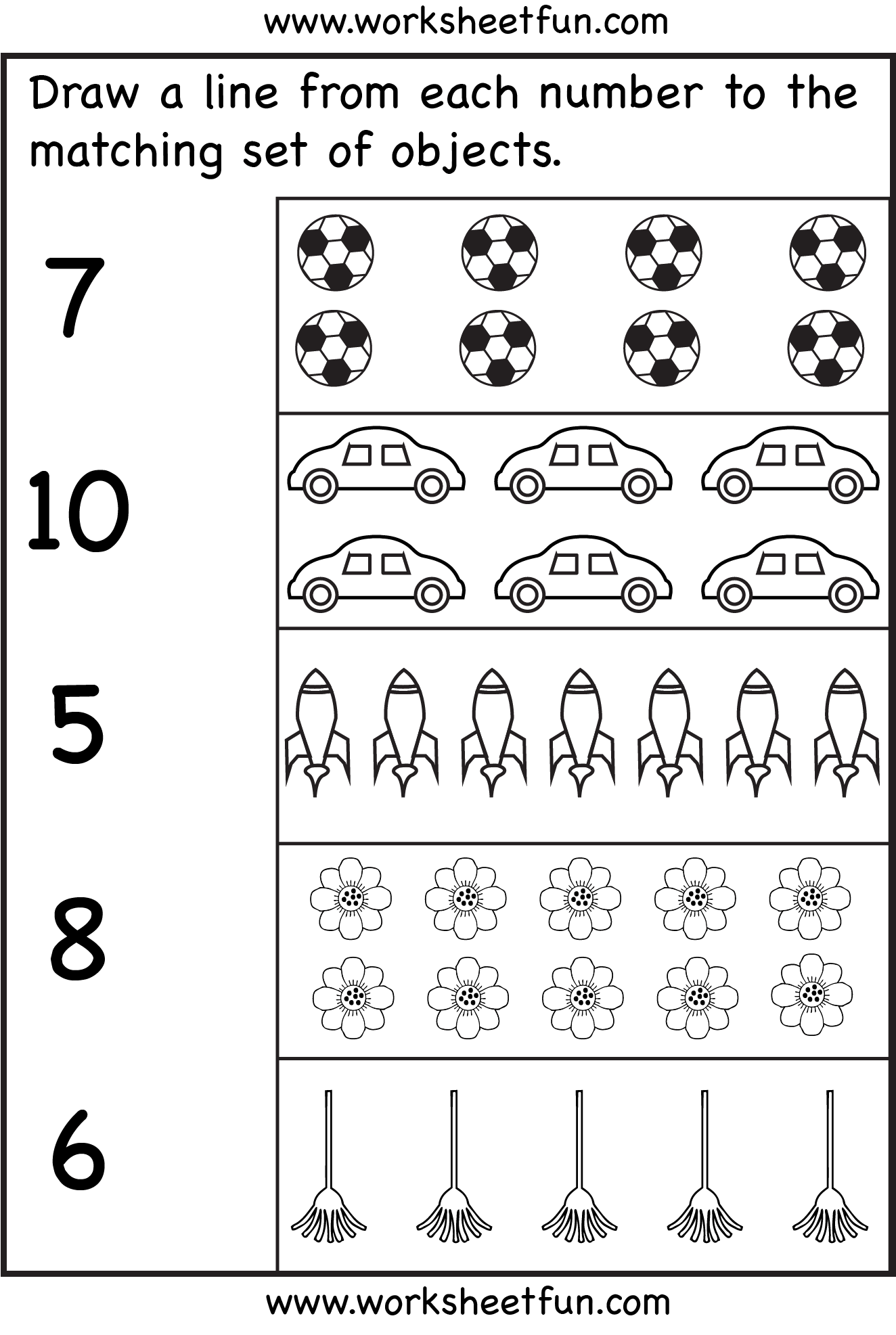 Free Matching Numbers 6 10 Coloring Pages