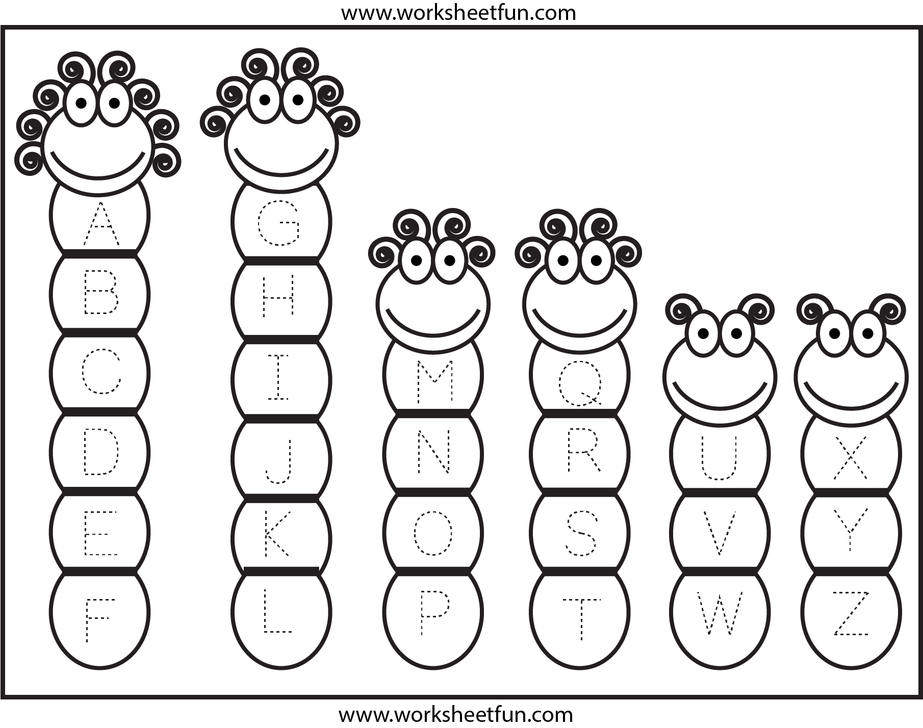Tracing Uppercase Letters Capital Letters Free Printable Worksheets Worksheetfun