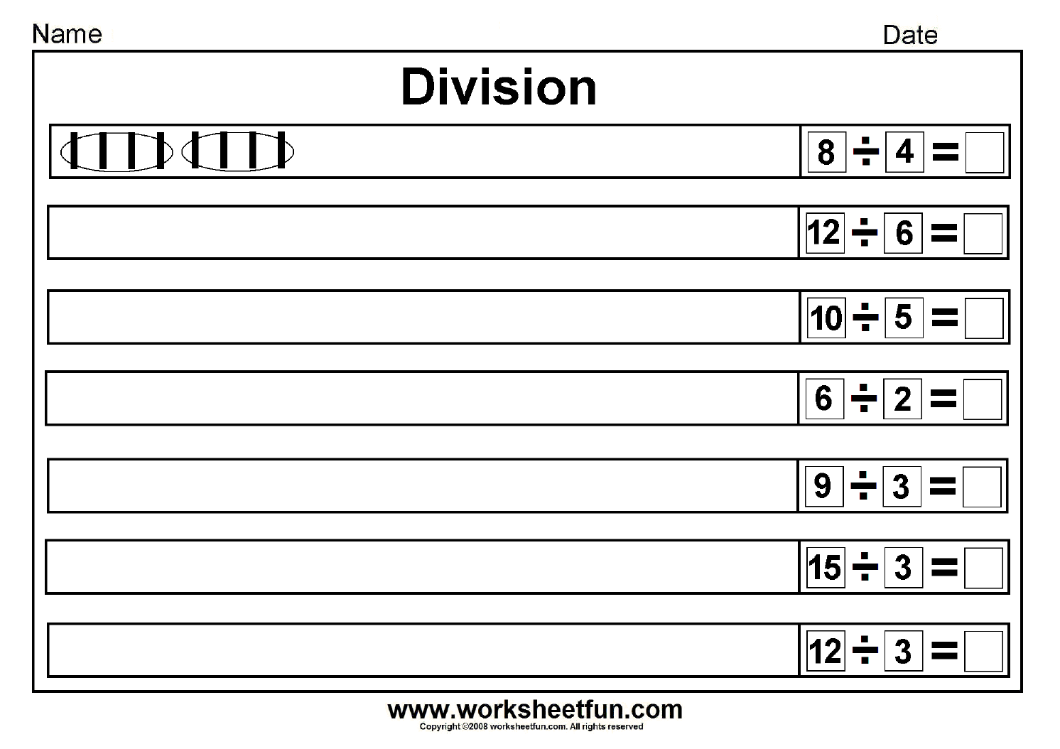 Division Draw Lines Worksheet 1 1 492 1 054 Pixels