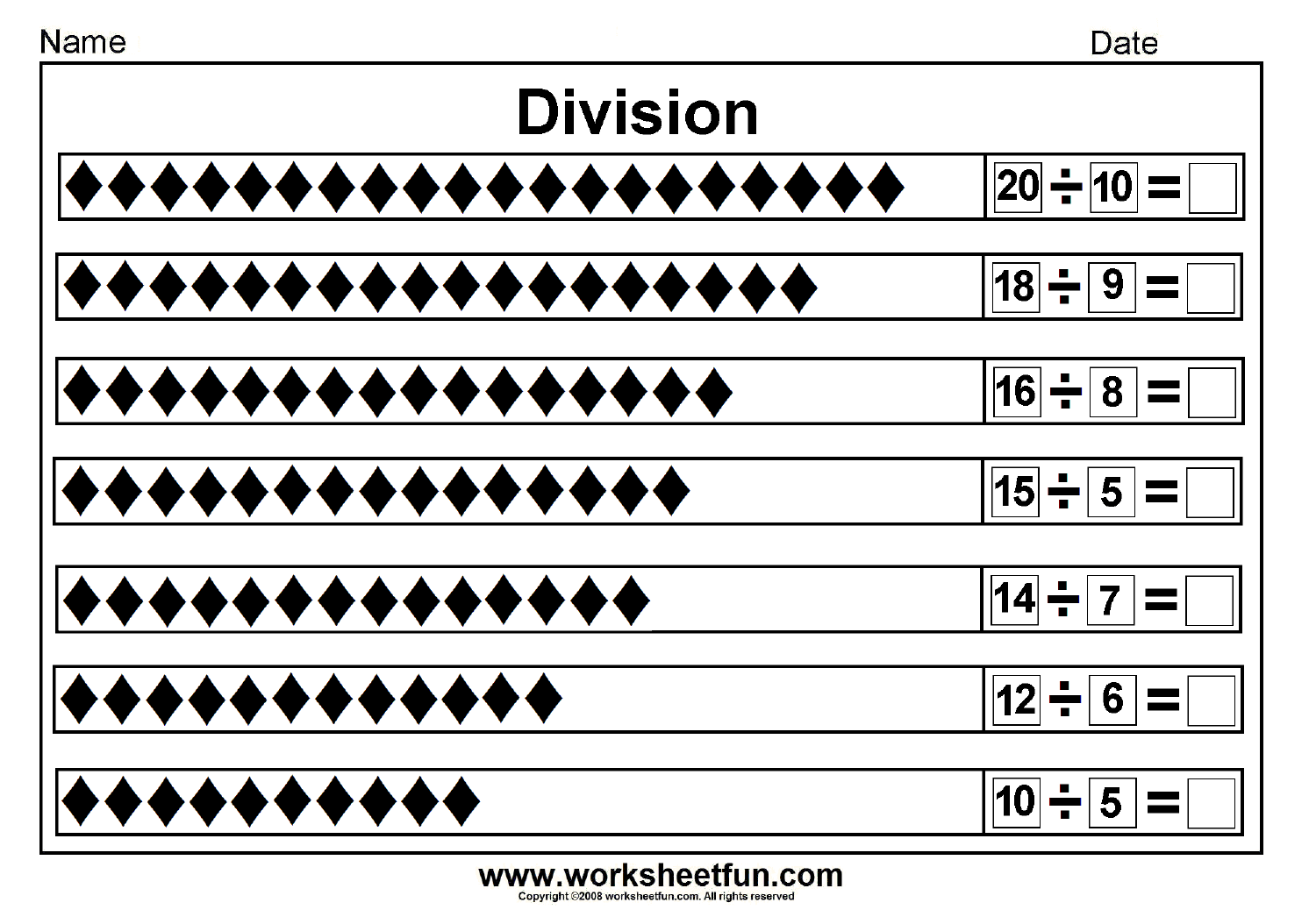 Division By Grouping Worksheet