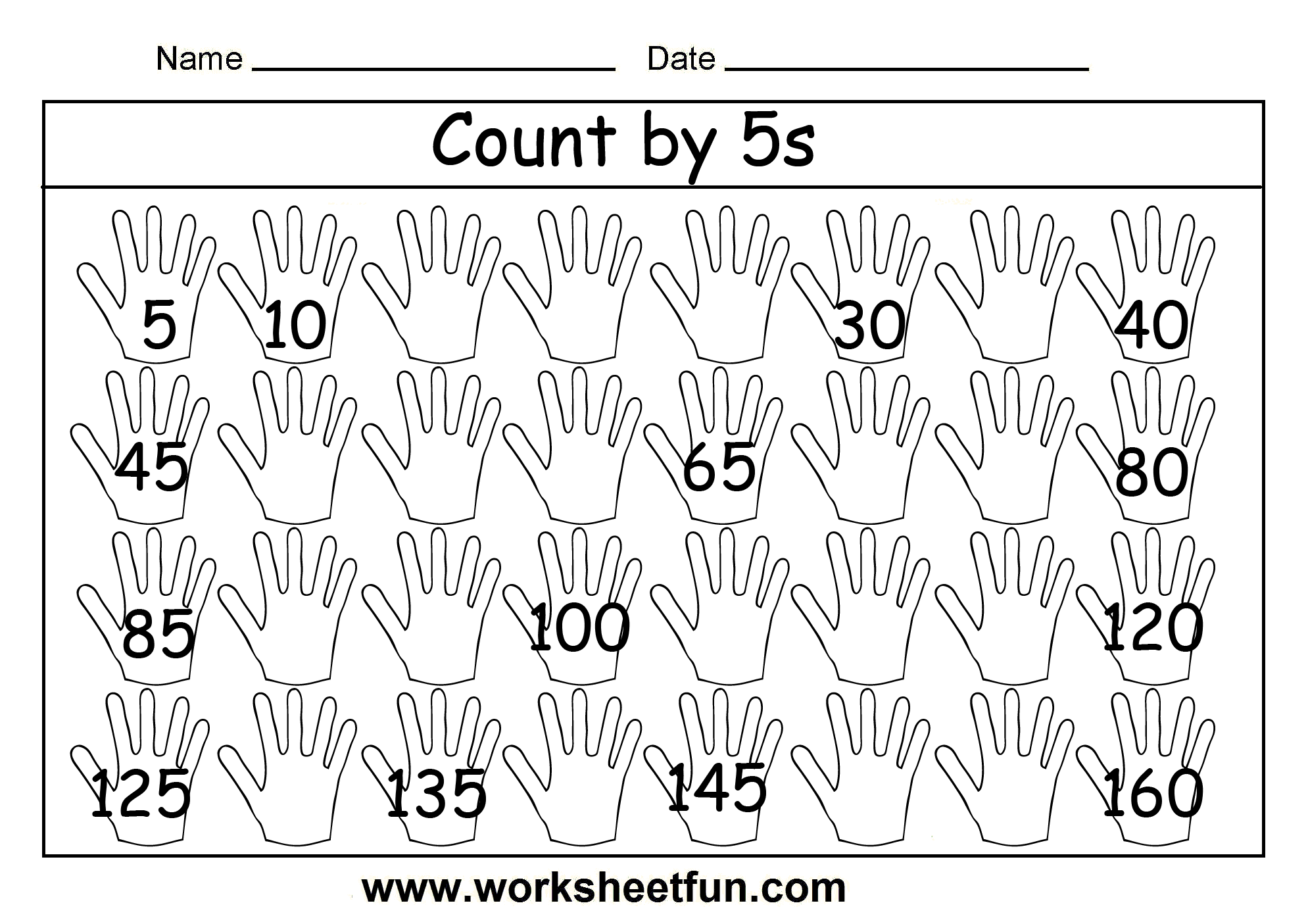 Count By 5s 2 Worksheets Free Printable Worksheets Worksheetfun