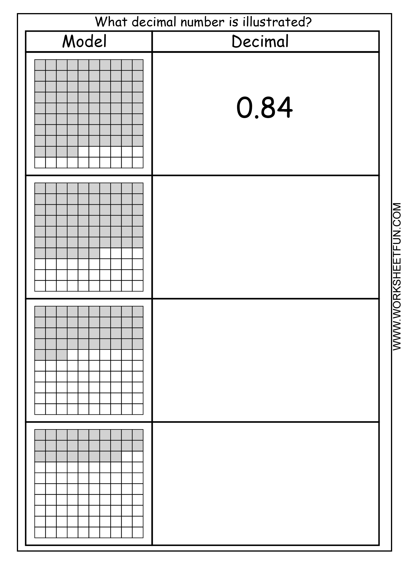 Worksheet On Fractions For Grade 9