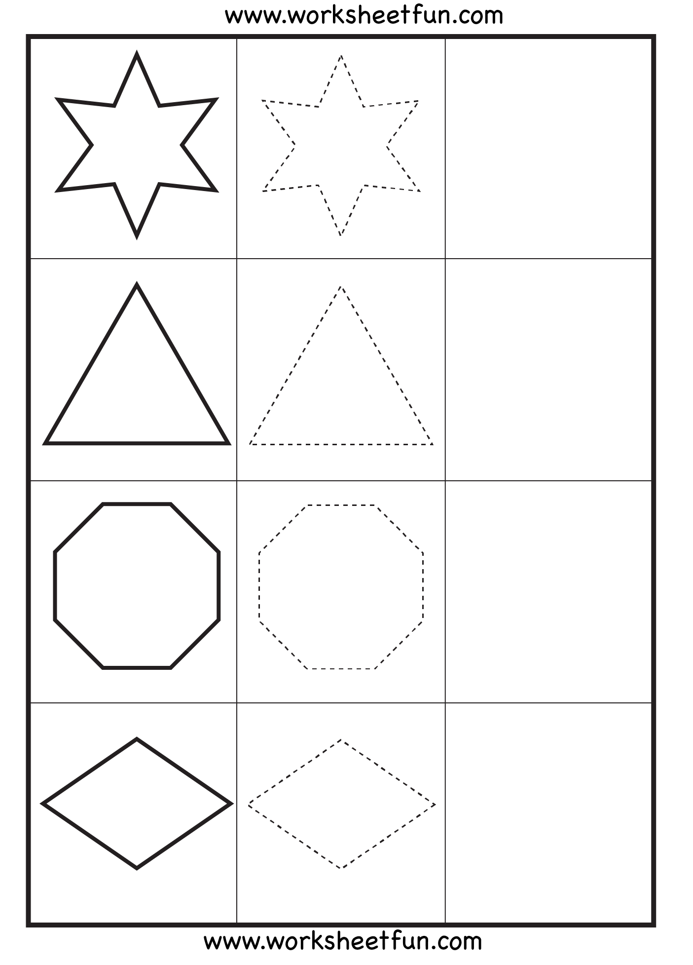 Complex Shape Practice Worksheet