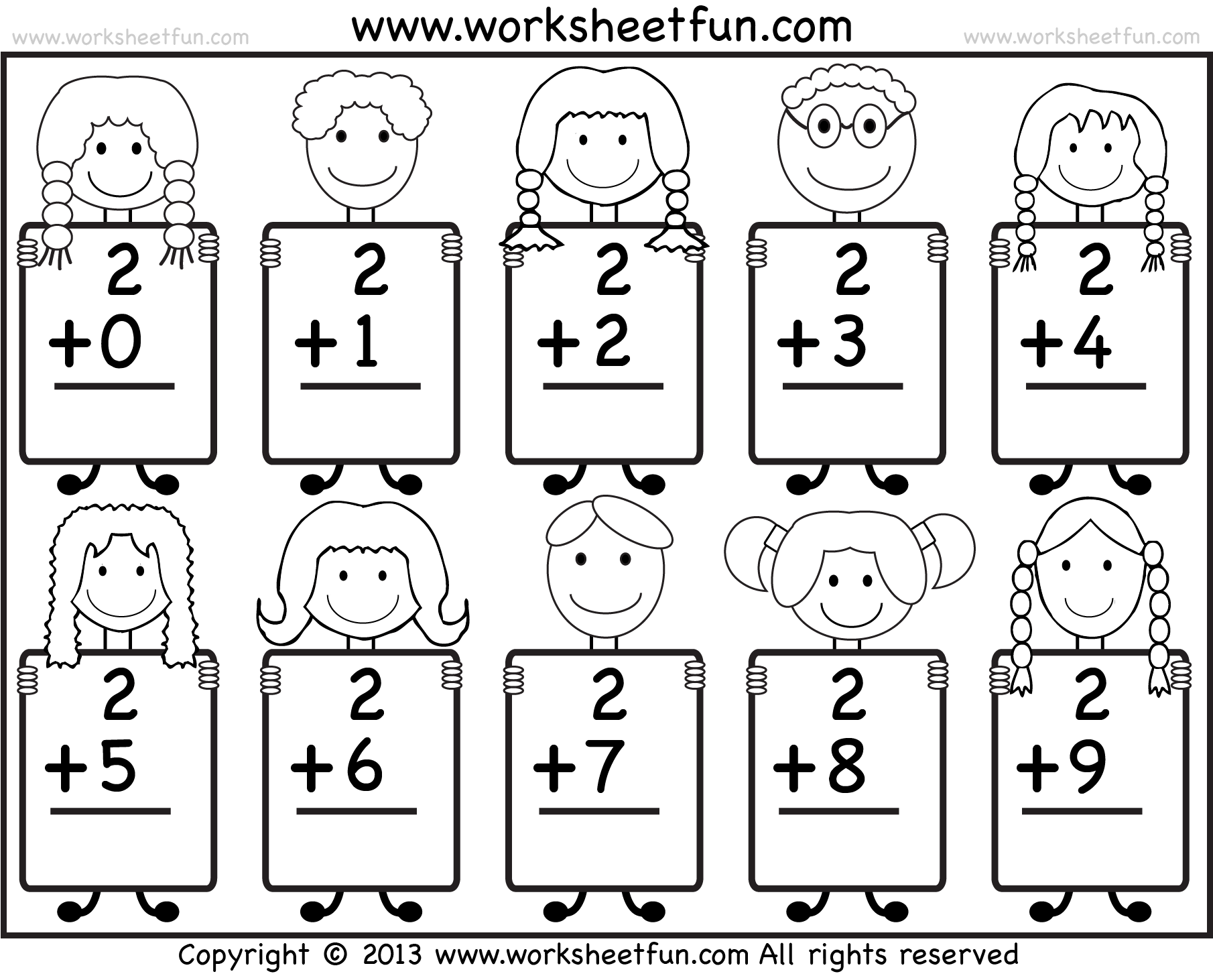 Kindergarten Math Addition And Subtraction Worksheets
