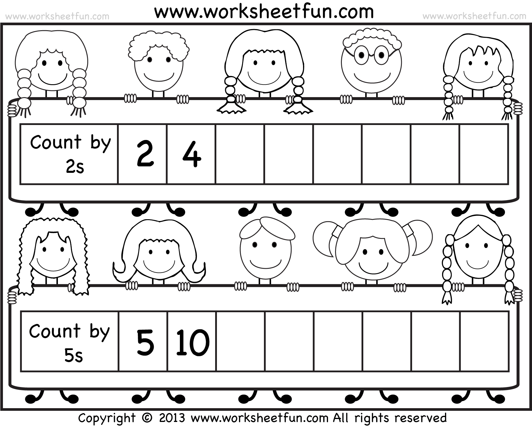 Skip Counting By 2 And 5 Worksheet Free Printable