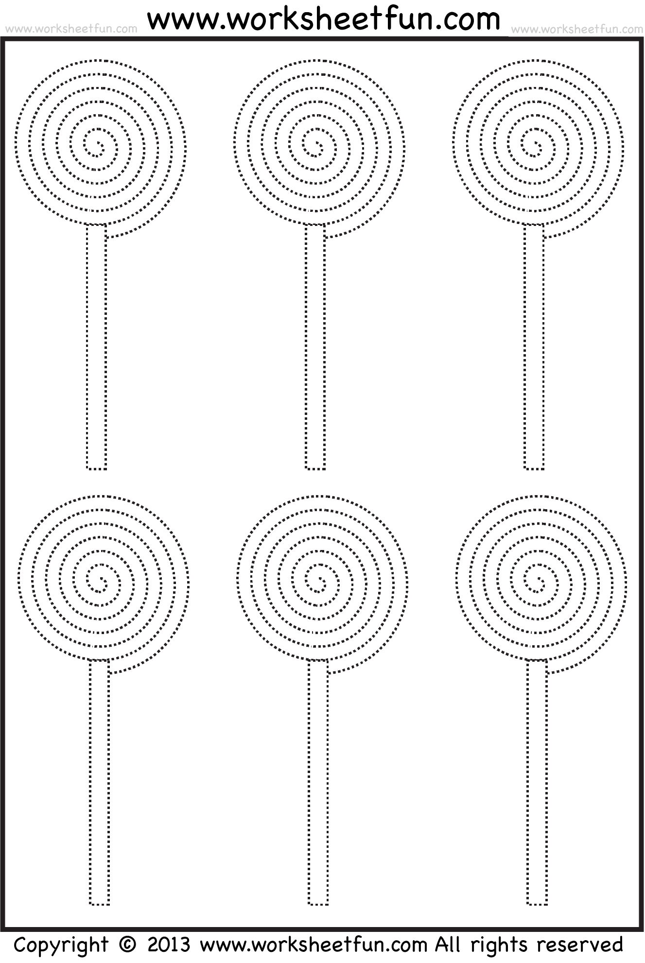 Candy Tracing And Coloring 4 Halloween Worksheets Free
