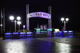 Ruegen - Binz -Seebrücke bei Nacht