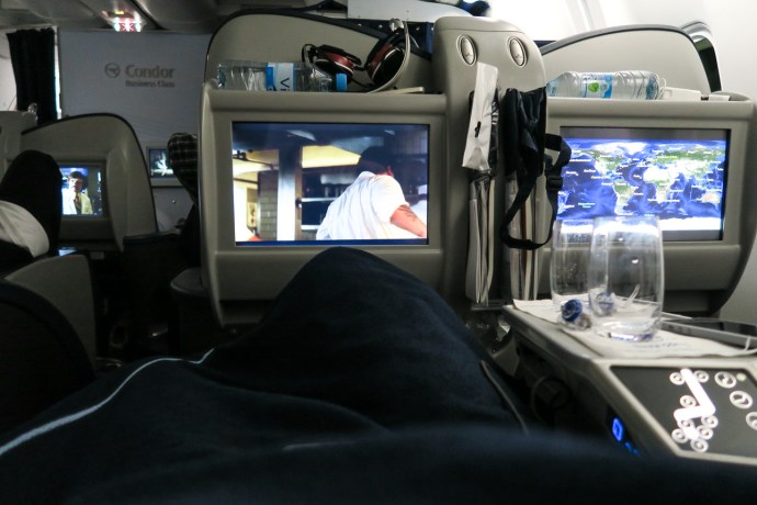 Inflight Entertainment in der neuen Condor Business Class